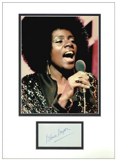 Gloria Gaynor Autograph Signed Display - I Will Survive